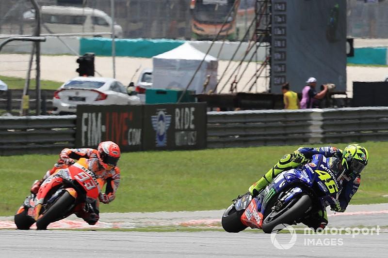 MotoGP in Sepang: Marquez gewinnt, Rossi stürzt in Führung liegend