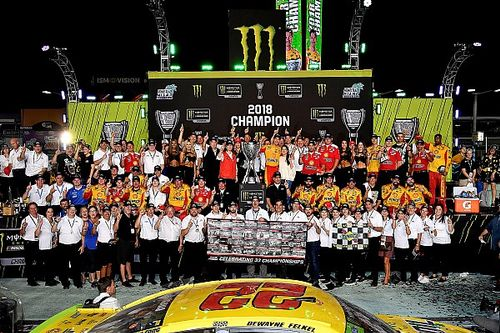 Eye in the Sky: TJ Majors celebrates first NASCAR Cup title