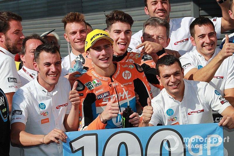 """Baldassarri: """"Festeggiare i 100 GP con lo champagne è veramente bellissimo"""""""