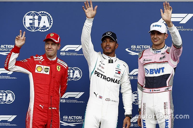 Belgian GP: Hamilton beats Vettel to pole as Force India stars