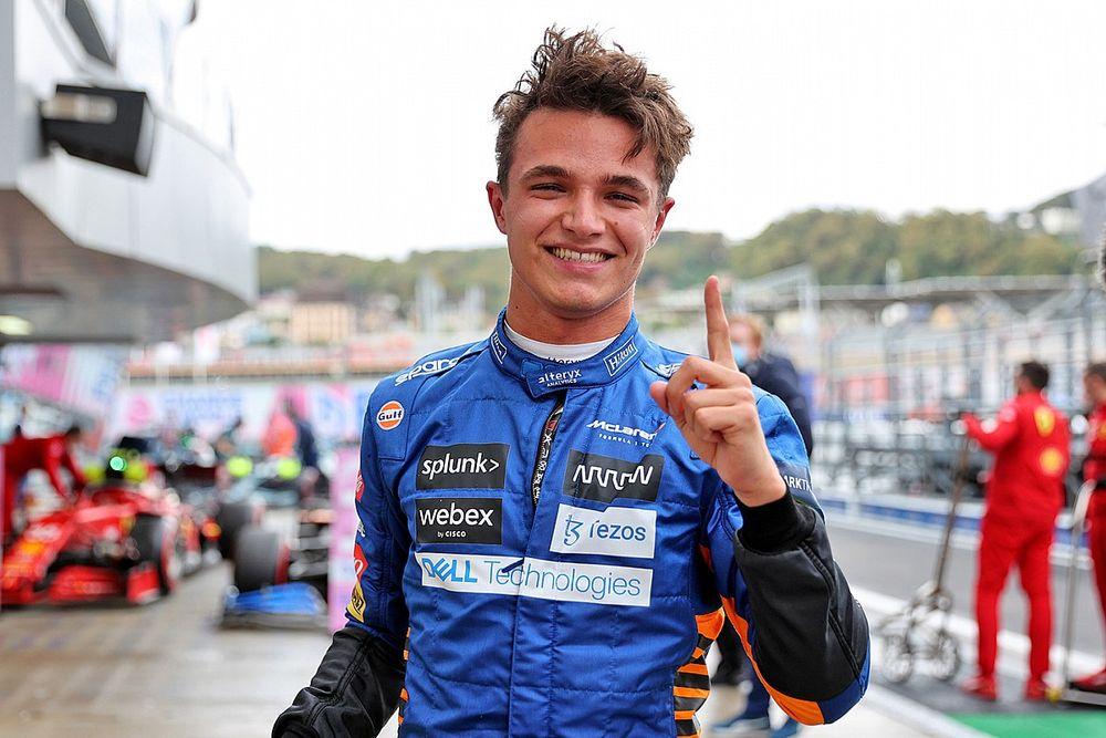 """Lando Norris élu """"Pilote du Jour"""" du GP de Russie 2021"""
