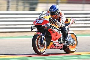 Marquez topt ondanks crash eerste training Teruel GP