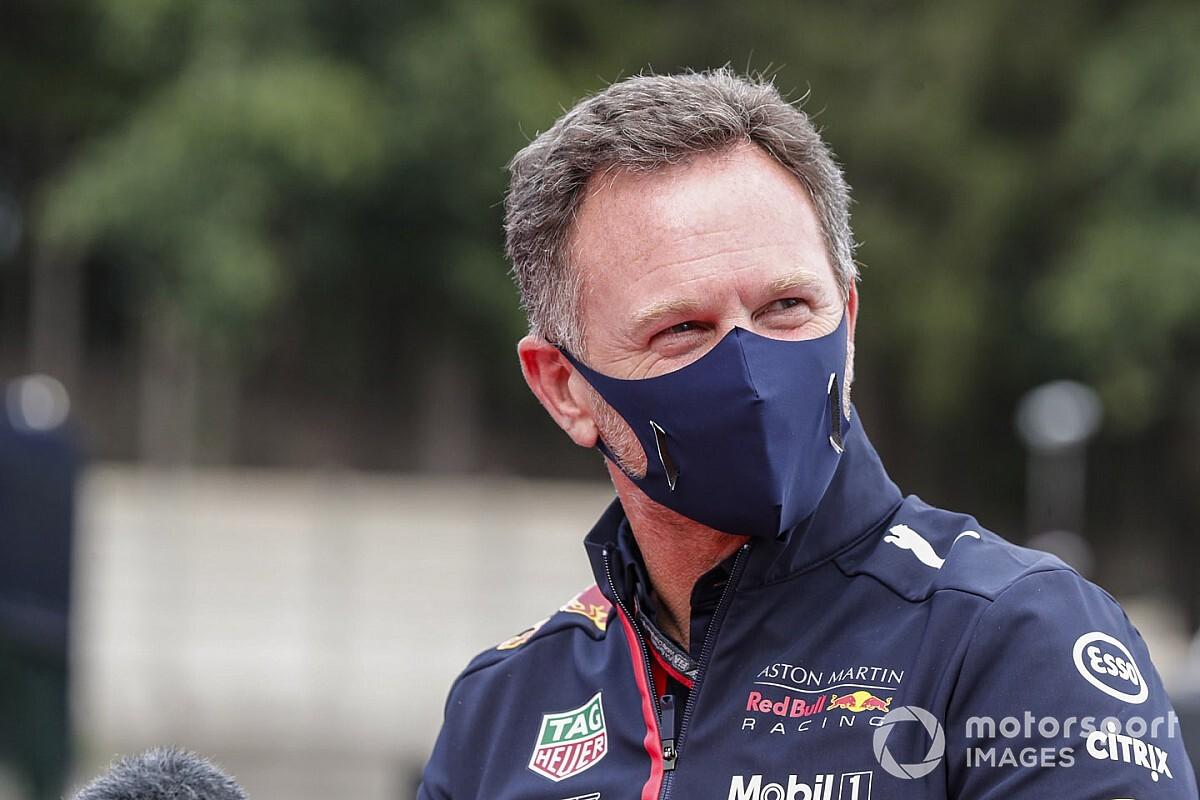"""Horner dá dica a Mercedes sobre possível suspensão de Hamilton: """"Deveria ter reserva no aquecimento"""""""
