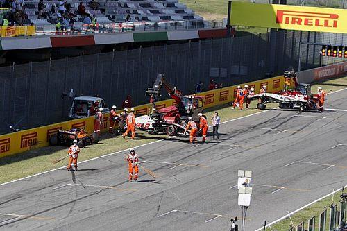 Pérez y otros 11 pilotos reciben advertencia por accidente en Mugello