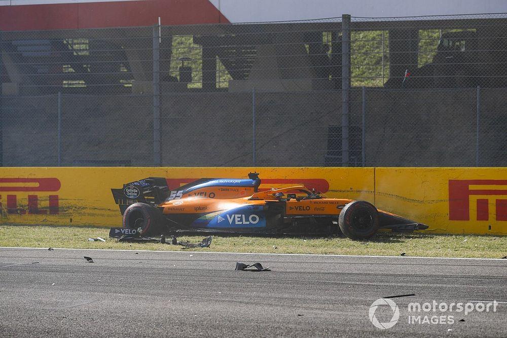 VÍDEO: Confira como halo protegeu Sainz em 'engavetamento' da F1