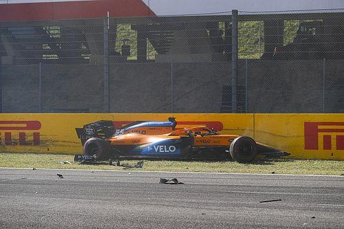 """Sainz se libró de un accidente """"aterrador"""", celebra McLaren"""
