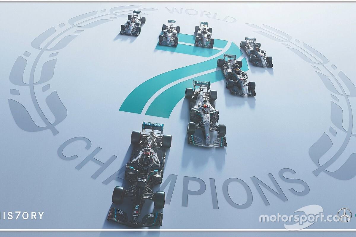 Mercedes AMG Petronas F1 takımı, art arda 7. şampiyonlukla rekor kırdı!