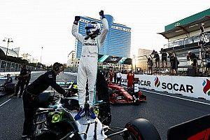 Bottas toma la pole en una accidentada calificación en Bakú