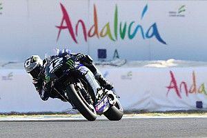 MotoGPアンダルシアFP1:ビニャーレス、ロッシのヤマハ勢がワンツー! 中上は8番手