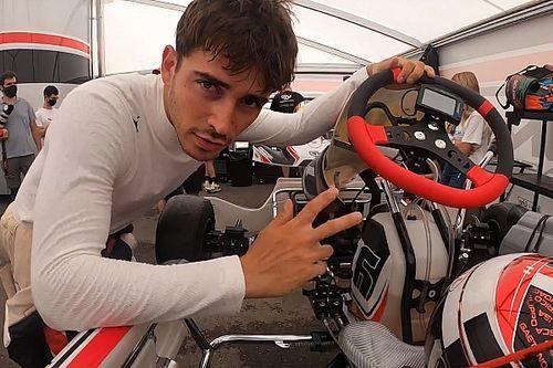 F1: Leclerc retorna aos treinos correndo de kart na pista onde iniciou sua carreira
