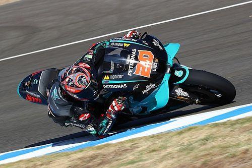 MotoGPスペイン決勝:クアルタラロ、初優勝はポールトゥウィン! マルケス追い上げも転倒
