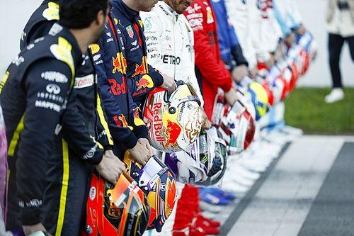 De officiële portretfoto's van de Formule 1-coureurs 2020
