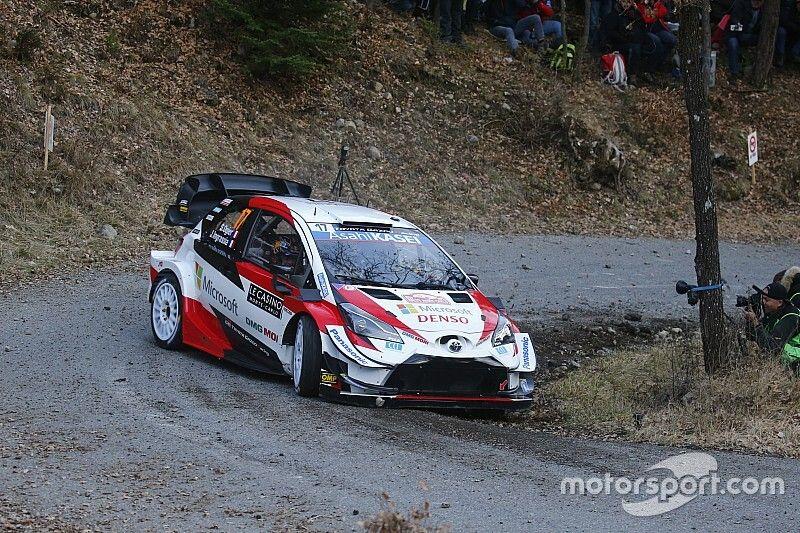 WRCモンテカルロ2日目:オジェが首位浮上。エバンス2番手でトヨタ1-2体制