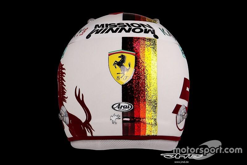 GALERÍA: el casco especial de Vettel para sus 100 GP con Ferrari
