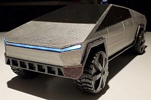 Méretarányos 3D-nyomtatott Tesla Cybertruck-modellt készítettek