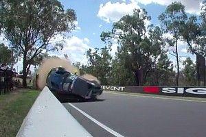 Aston Martin rolls in second major Bathurst crash