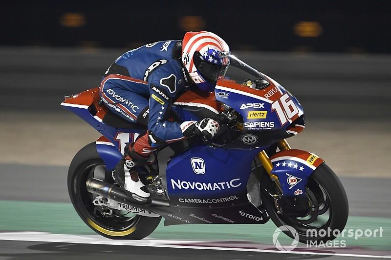 Roberts salta la banca en el arranque de Moto2 en Qatar