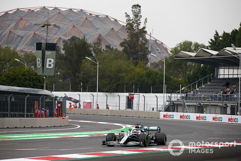Hamilton manda en una extraña FP1 en México