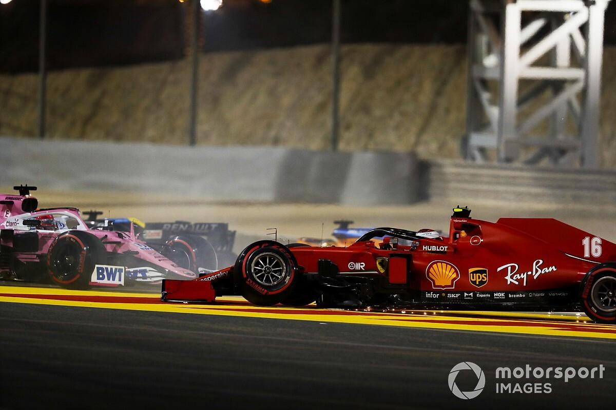 Verstappen na opgave Sakhir: 'Actie Leclerc was roekeloos'