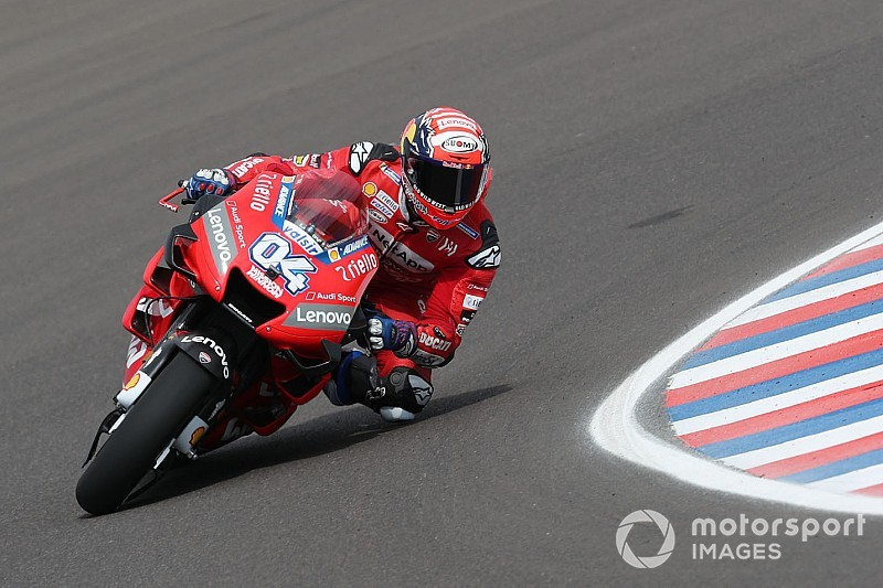 Argentina MotoGP: Dovizioso pips Miller to top FP2