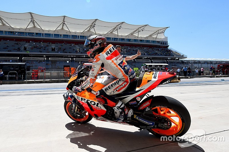 Austin MotoGP: Marquez fastest in warm-up, Dovizioso second