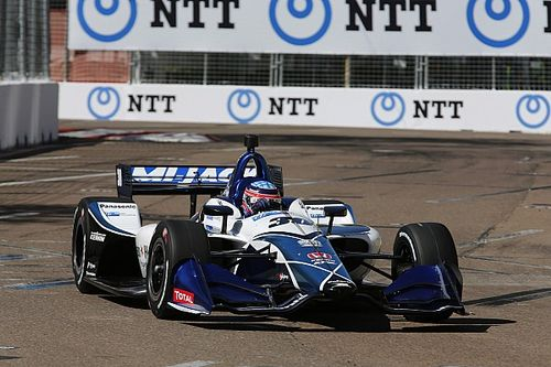 Sato y Rahal lideran el warm-up en St Petersburg