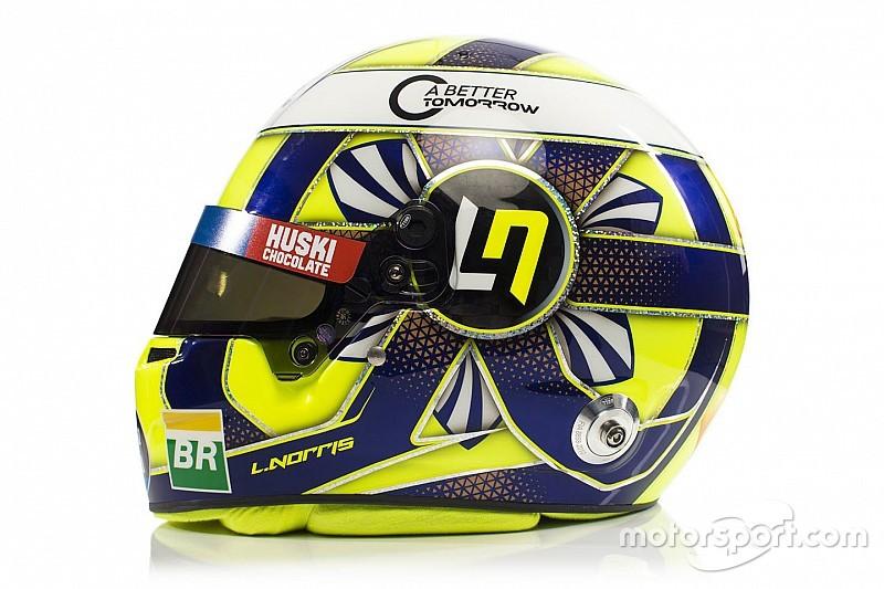 Норрис представил шлем для дебютного сезона в McLaren