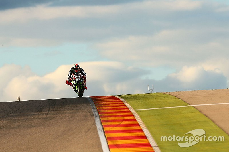 Essais Aragón - Les Kawasaki toujours devant, Melandri blessé
