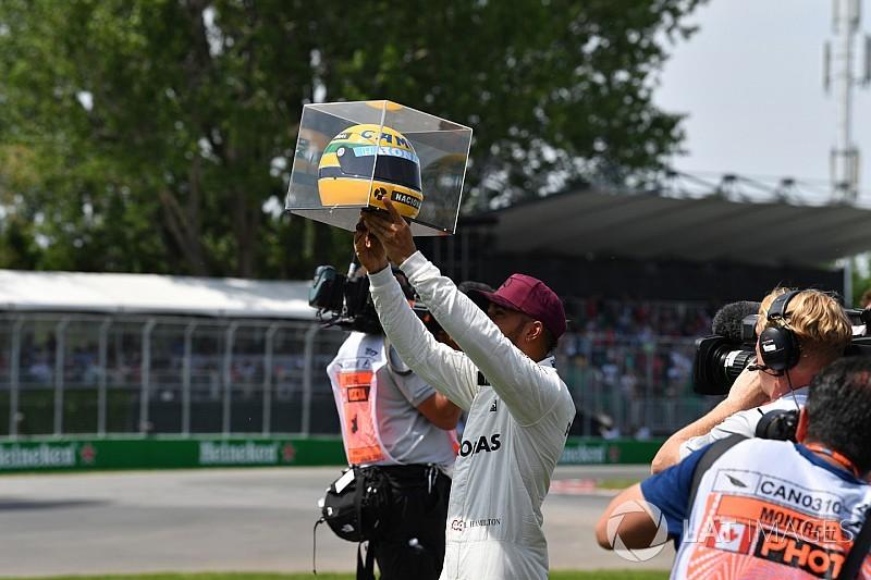 """Hamilton: """"Quando criança, eu queria ser Senna ou Superman"""""""