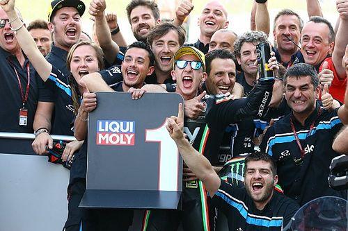Rossi rayakan kemenangan Migno dan Sky Racing Team VR46
