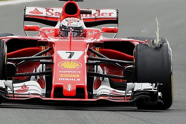 Un daño externo causó el problema en el neumático de Raikkonen