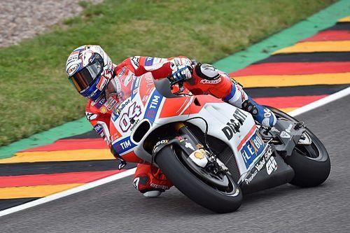 Dovizioso topt eerste training Duitse GP, technische problemen Rossi