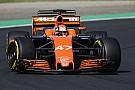 McLaren, testin ardından