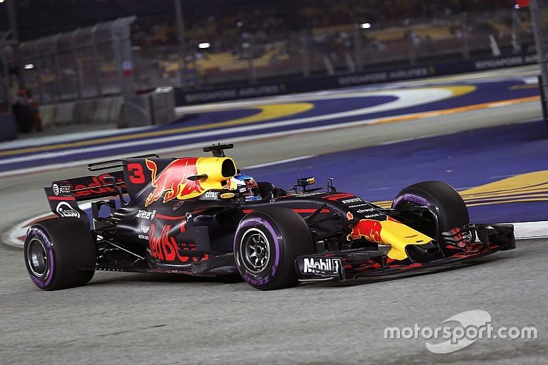 新加坡大奖赛FP2:里卡多横扫周五练习,维特尔蹭墙