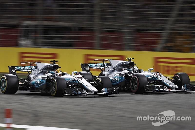 Los problemas para Bottas, por falta de presión en neumáticos