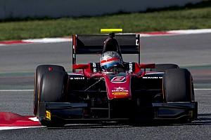 FIA F2 Relato de testes Albon domina segundo dia de testes da F2; Sette Câmara é 13º