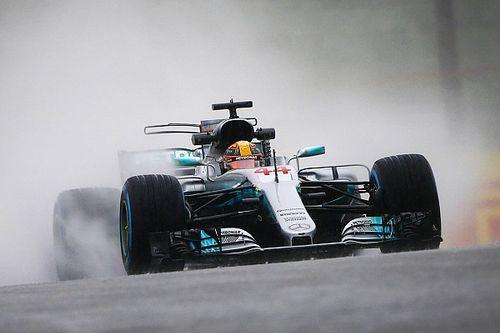 Japanese GP: Hamilton tops second practice washout