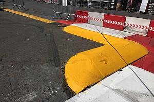 Grosjean over nieuwe kerbstone in Monaco: