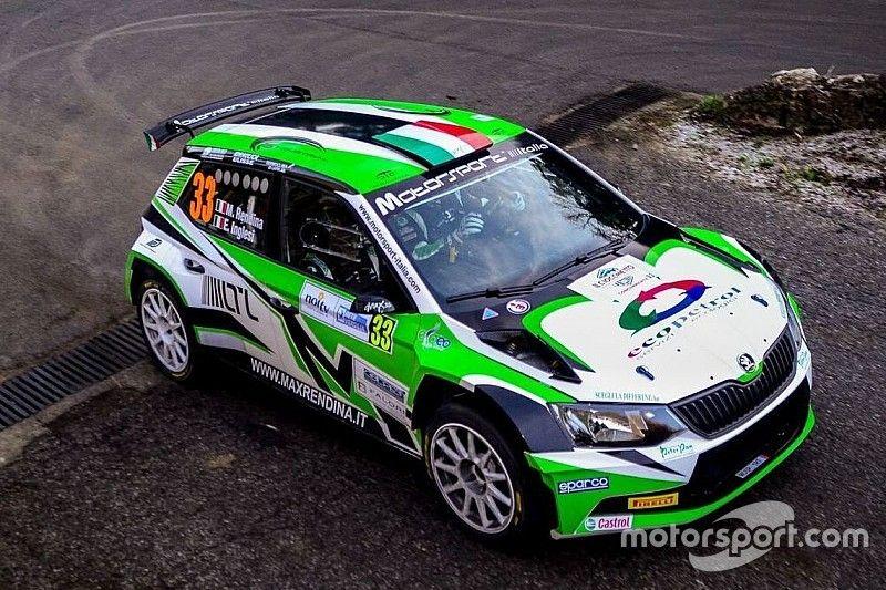 Rendina al via dell'Acropolis Rally con il team Motorsport Italia