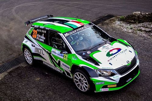 Rendina al via dell'Acropolis Rally con il team Motorsport Italia