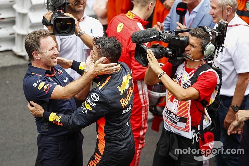 """Horner: """"Ricciardo als een meisje dat niet mee uit wil"""""""