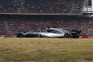 予選Q1で失意のトラブル。ハミルトン「コースオフ前に油圧が壊れた」