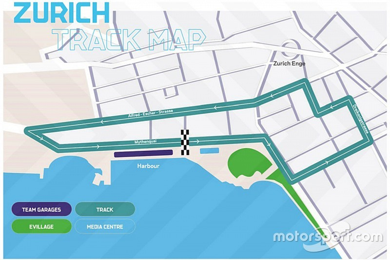 Ufficializzato il layout del tracciato per l'ePrix di Zurigo!