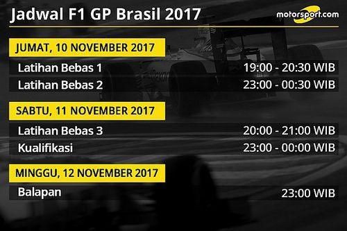 Jadwal lengkap F1 GP Brasil 2017