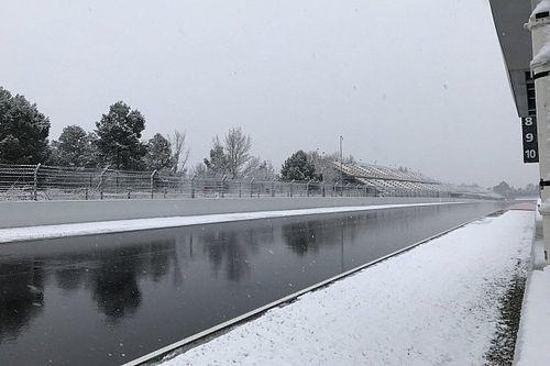 Start derde testdag uitgesteld vanwege sneeuw