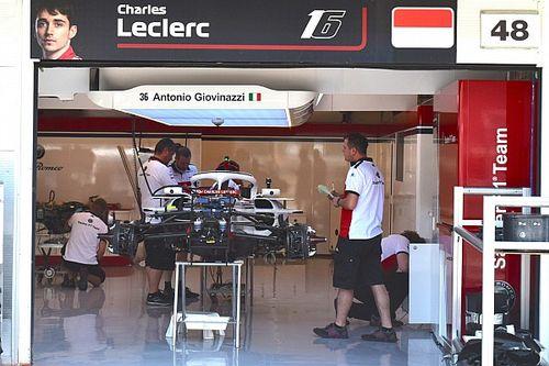 Sauber: Giovinazzi torna sulla C37 nella FP1 ma guida la macchina di Leclerc