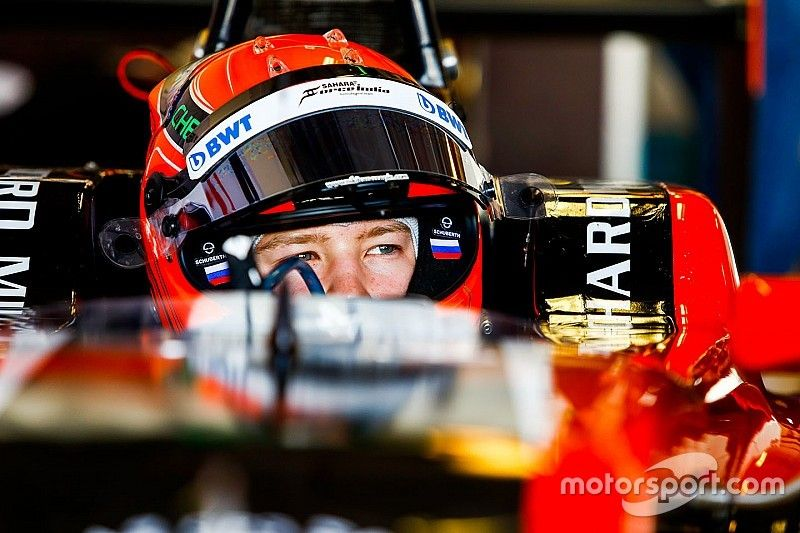Мазепин показал третье время финального дня тестов GP3