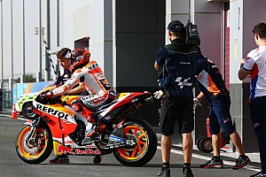 "Marquez ""of course worried"" about Honda's Qatar form"