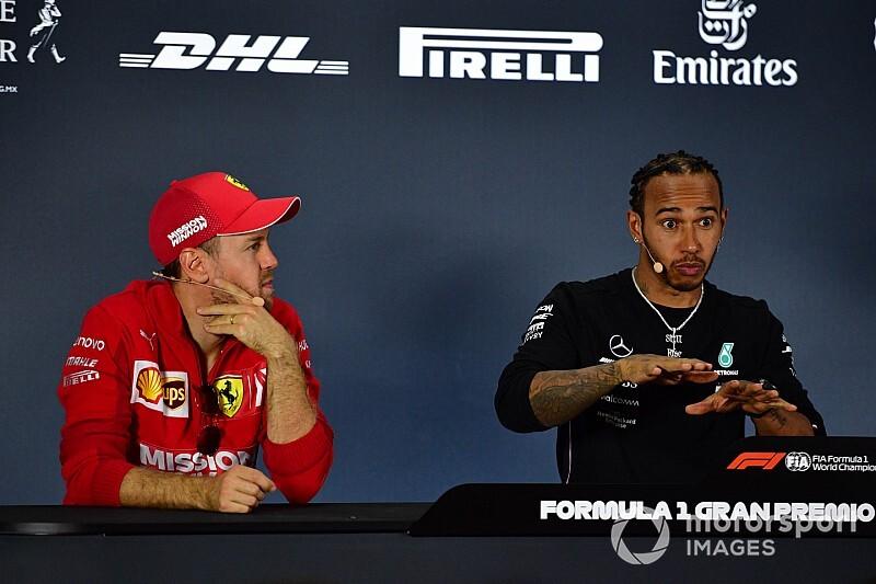 Így terelte le Vettel Hamiltont a rajtnál Mexikóban: nagyon necces volt (videó)