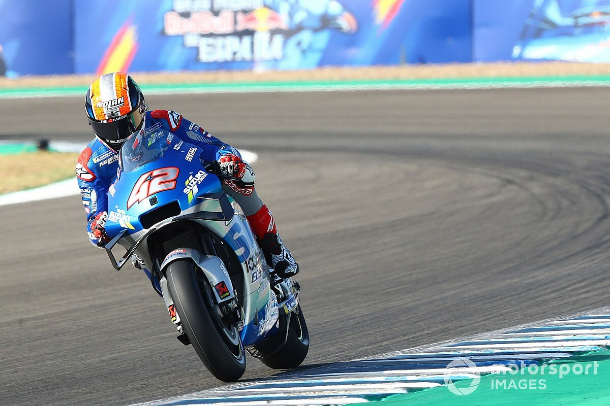 "Rins endures ""painful day"" at Jerez on MotoGP return"